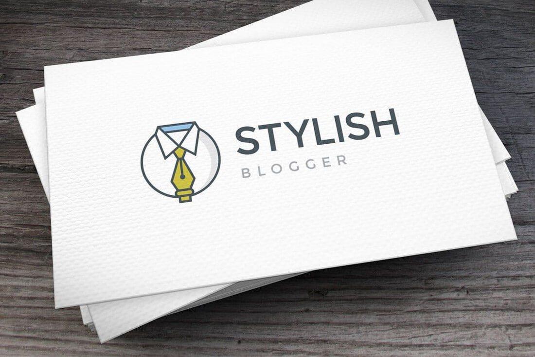 Stylish-Blogger-Logo-Template 50+ Best Minimal Logo Design Templates design tips