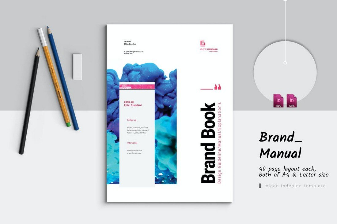 Stylish-Brand-Manual-Template 20+ Best Brand Manual & Style Guide Templates 2020 (Free + Premium) design tips
