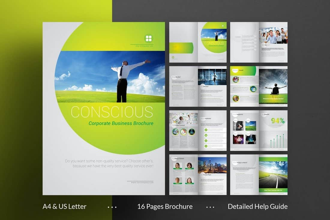 Stylish Corporate InDesign Brochure Template