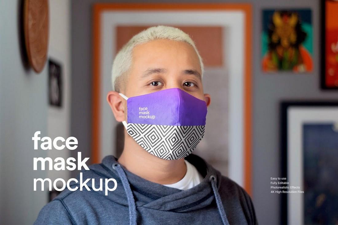 Stylish Face Mask Design Mockup
