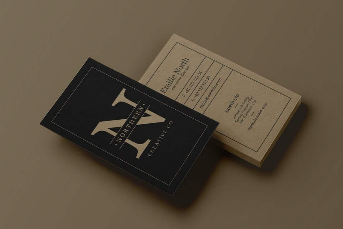 Stylish Portrait Business Card Template (PSD)