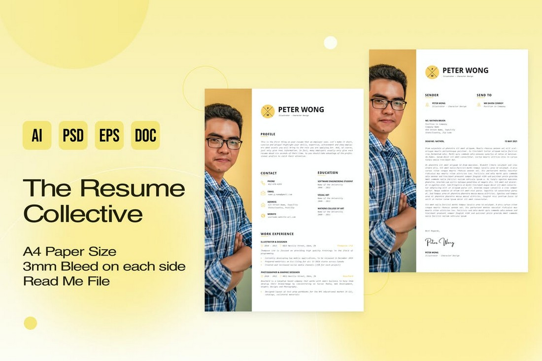 Stylish Resume & Cover Letter Template