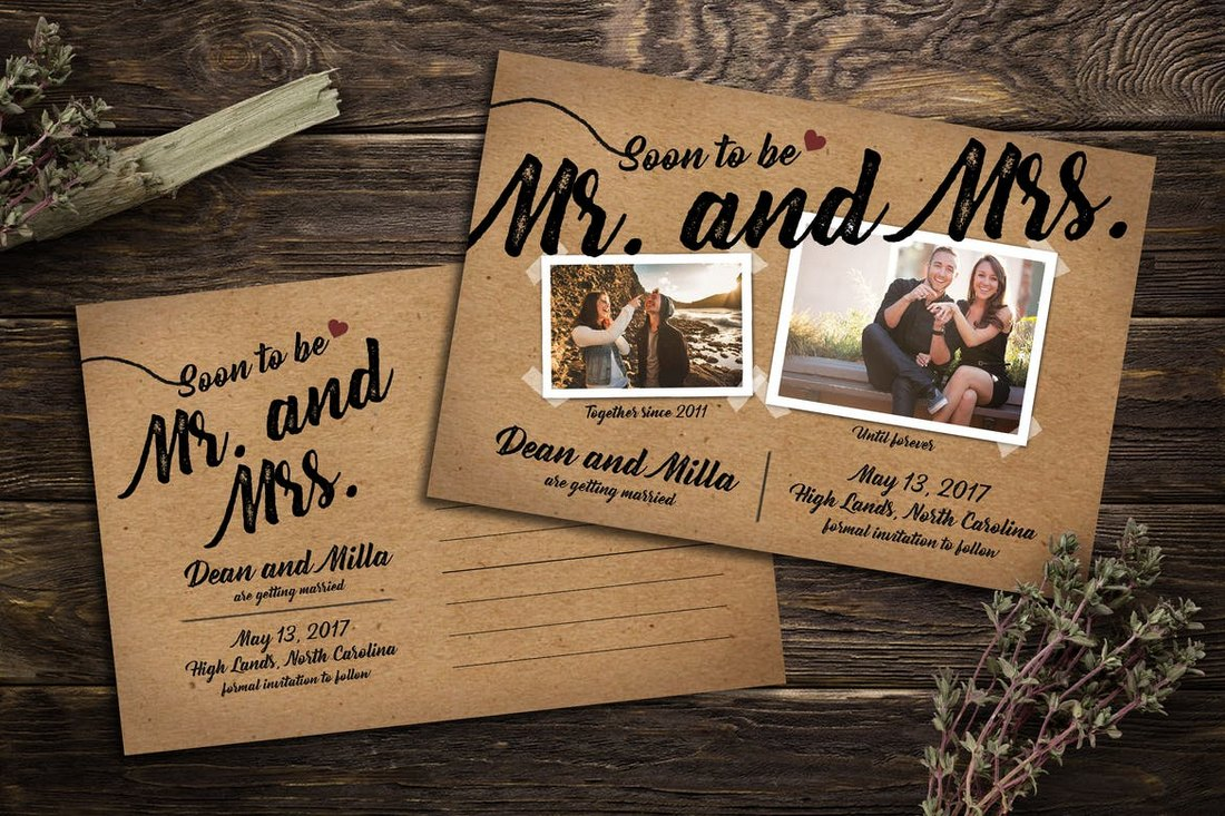 Stylish-Save-the-Date-Post-Card 15+ Gorgeous Save the Date Wedding Templates design tips