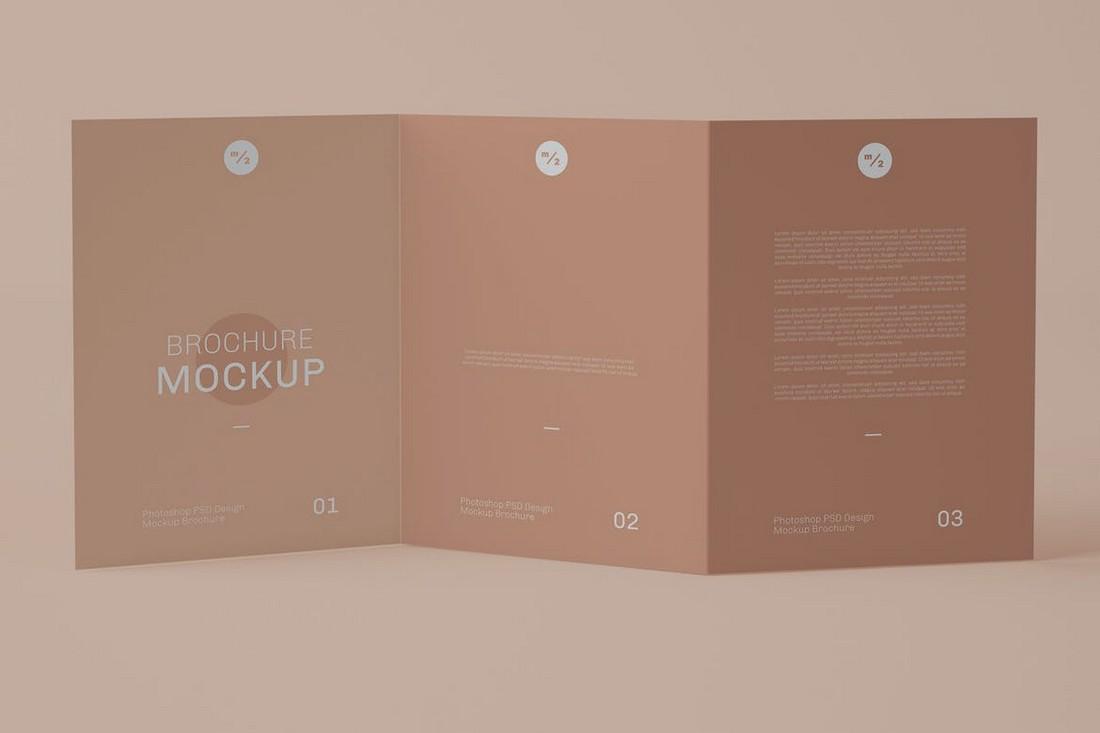 Stylish Trifold Brochure Mockup