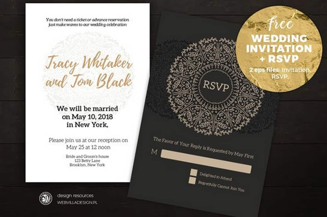 Stylish Wedding Invitation Template