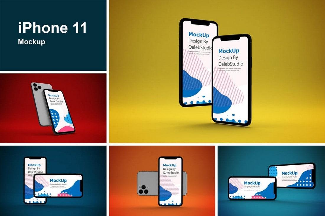 Maquetas de iPhone 11 con estilo