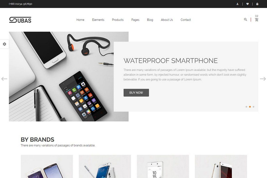 20 minimal bootstrap templates design shack subas is yet another ecommerce html template built with bootstrap its ideal for building an online store for gadgets phones and electronics maxwellsz