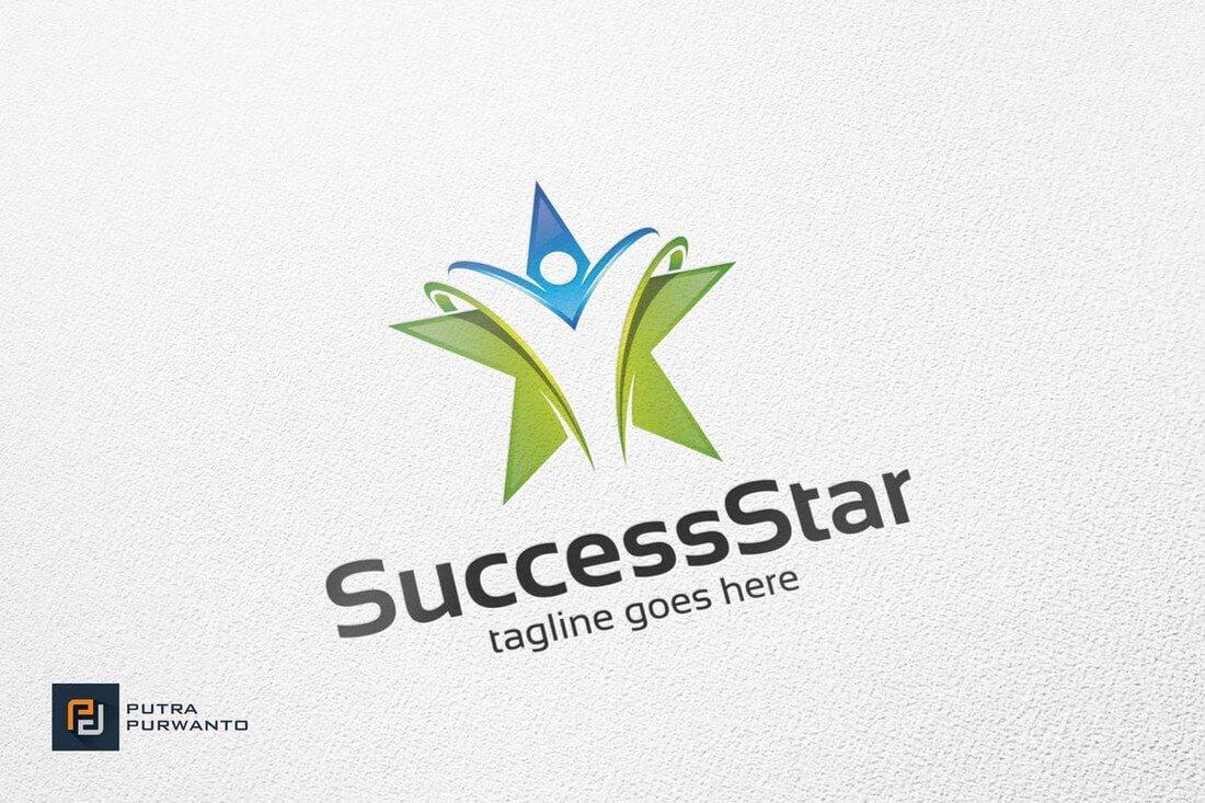 Success-Star-Logo-Template 50+ Best Minimal Logo Design Templates design tips