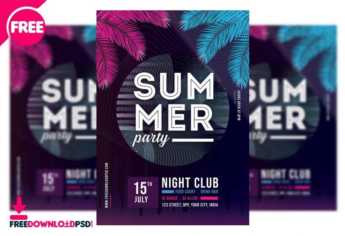 Summer Club Party Flyer Template