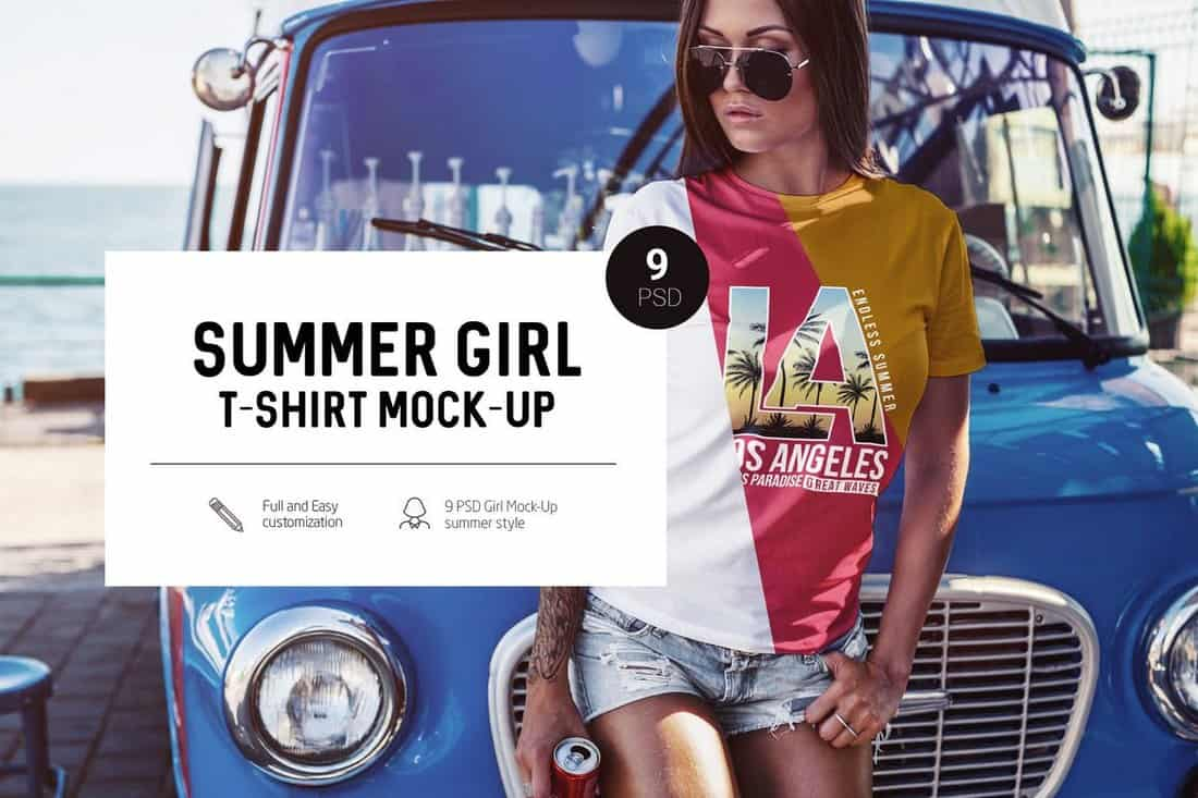 Summer Girl T-Shirt Mockups