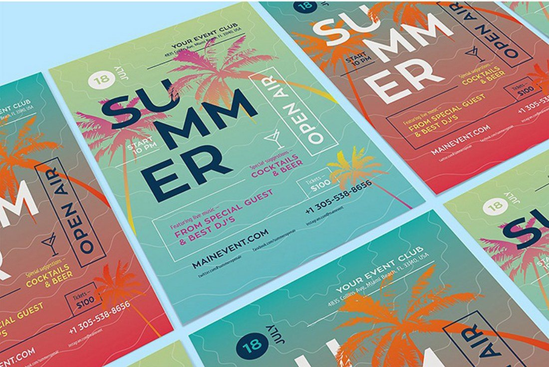 Summer-Poster-Template Typographic Posters: 100 Stunning Examples design tips
