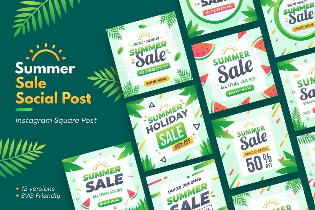 Summer Sale Social Media Post Templates