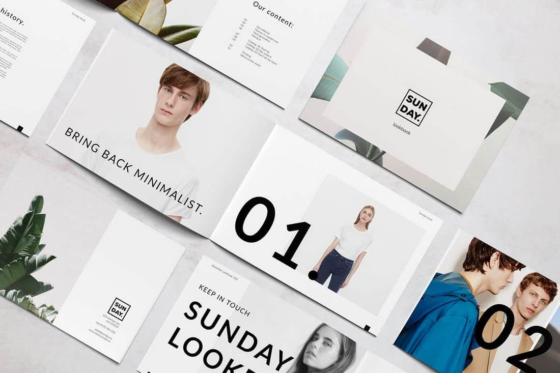 Sunday Lookbook Brochure Template