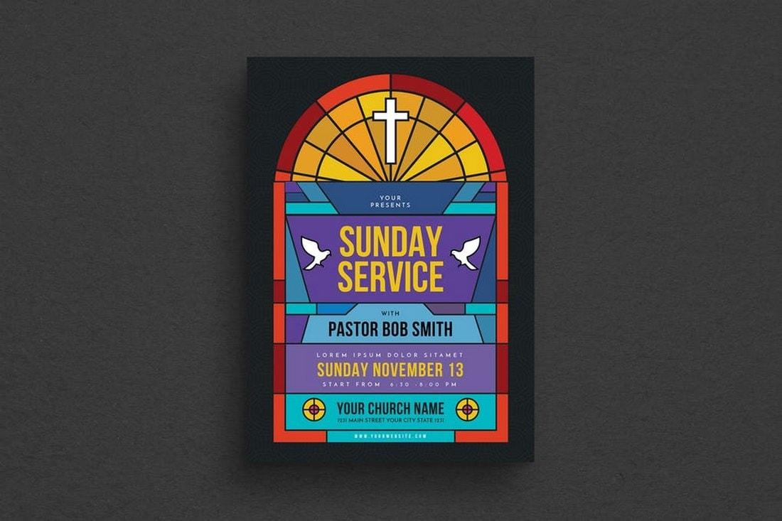 Sunday Service Church Flyer Template