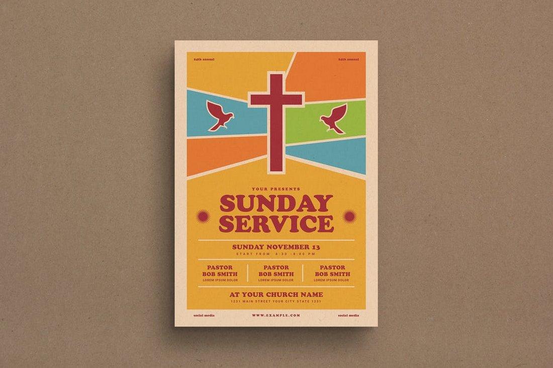 Sunday Service Event Flyer Template
