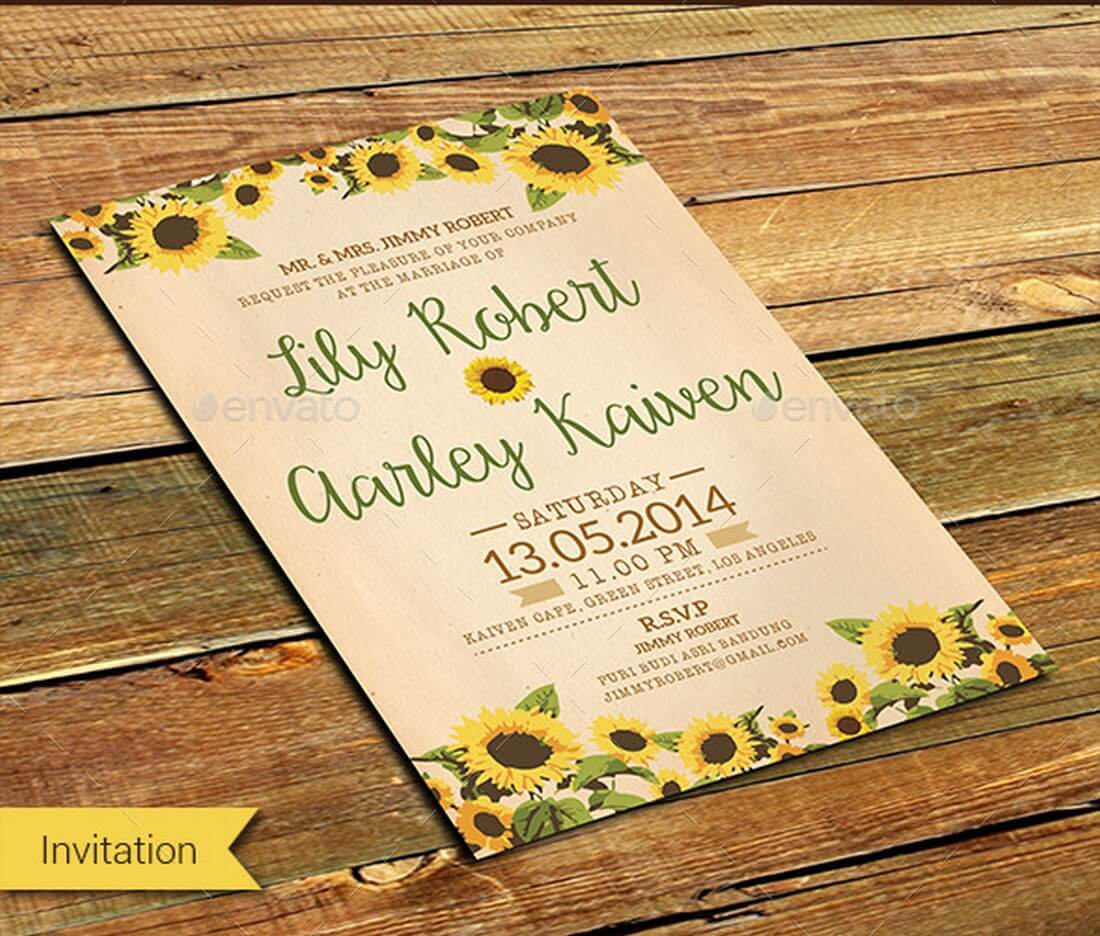 30 New Wedding Invitation Templates Yellow Graphics Wedding