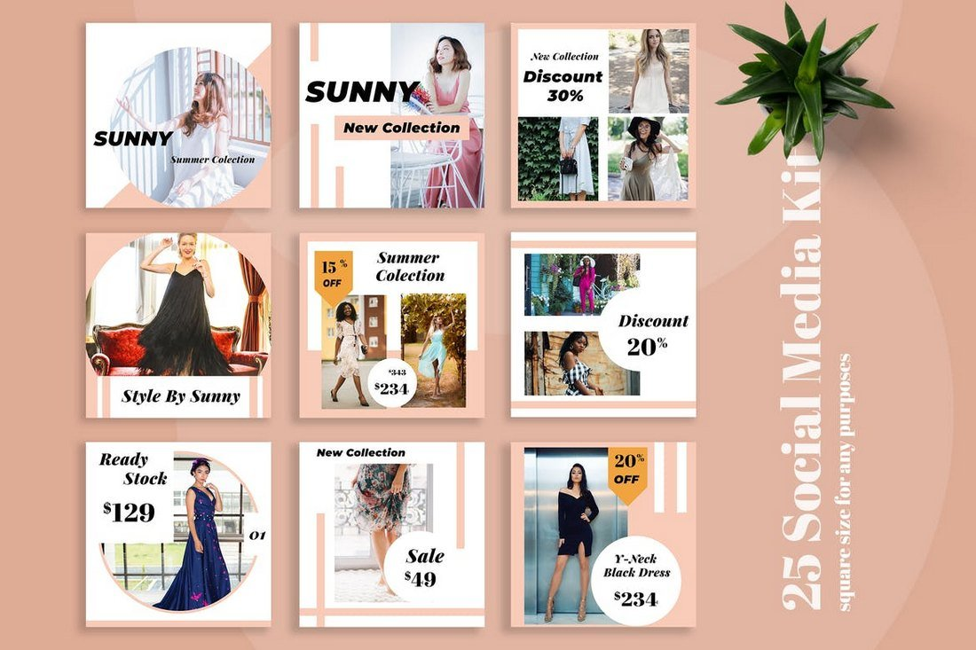 Sunny-Fashion-Social-Media-Kit-Templates 20+ Best Social Media Kit Templates & Graphics design tips