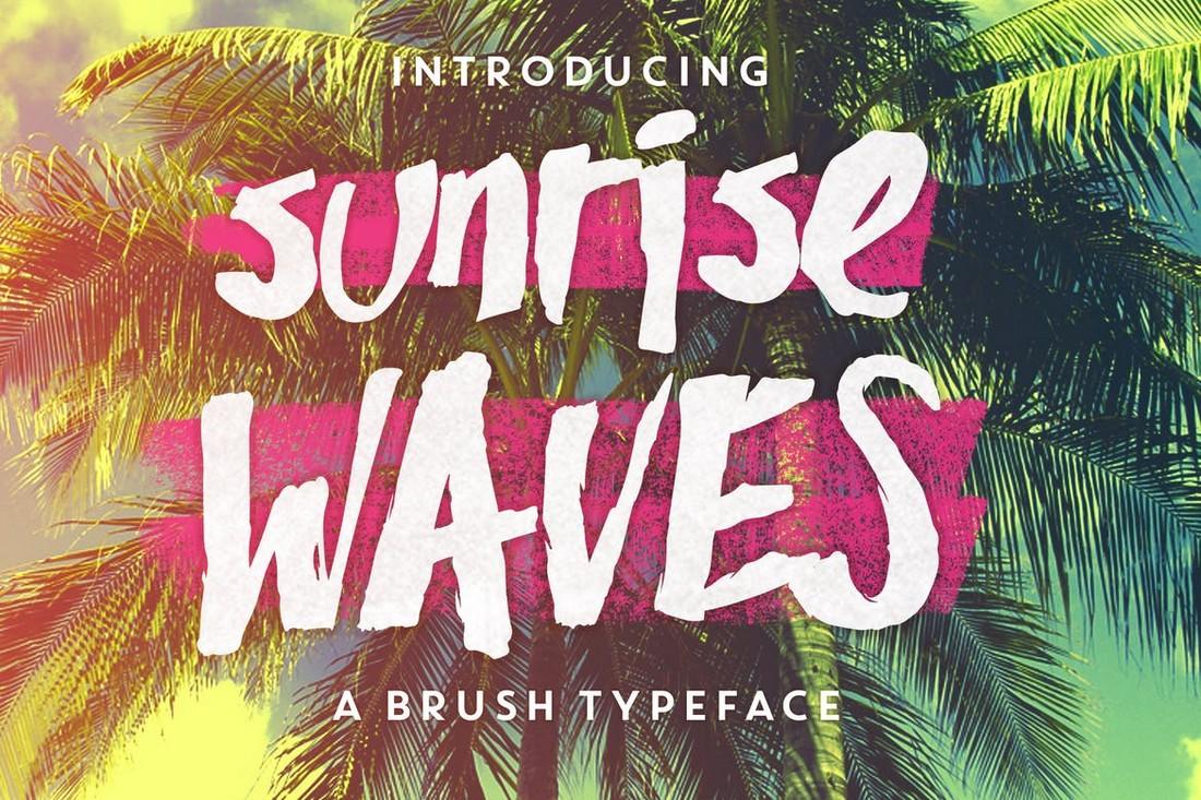 Sunrise Waves - Unique T-Shirt Font