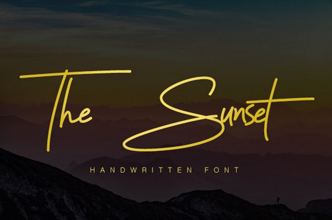 Sunset-Signature-Font 60+ Best Free Fonts for Designers 2019 (Serif, Script & Sans Serif) design tips