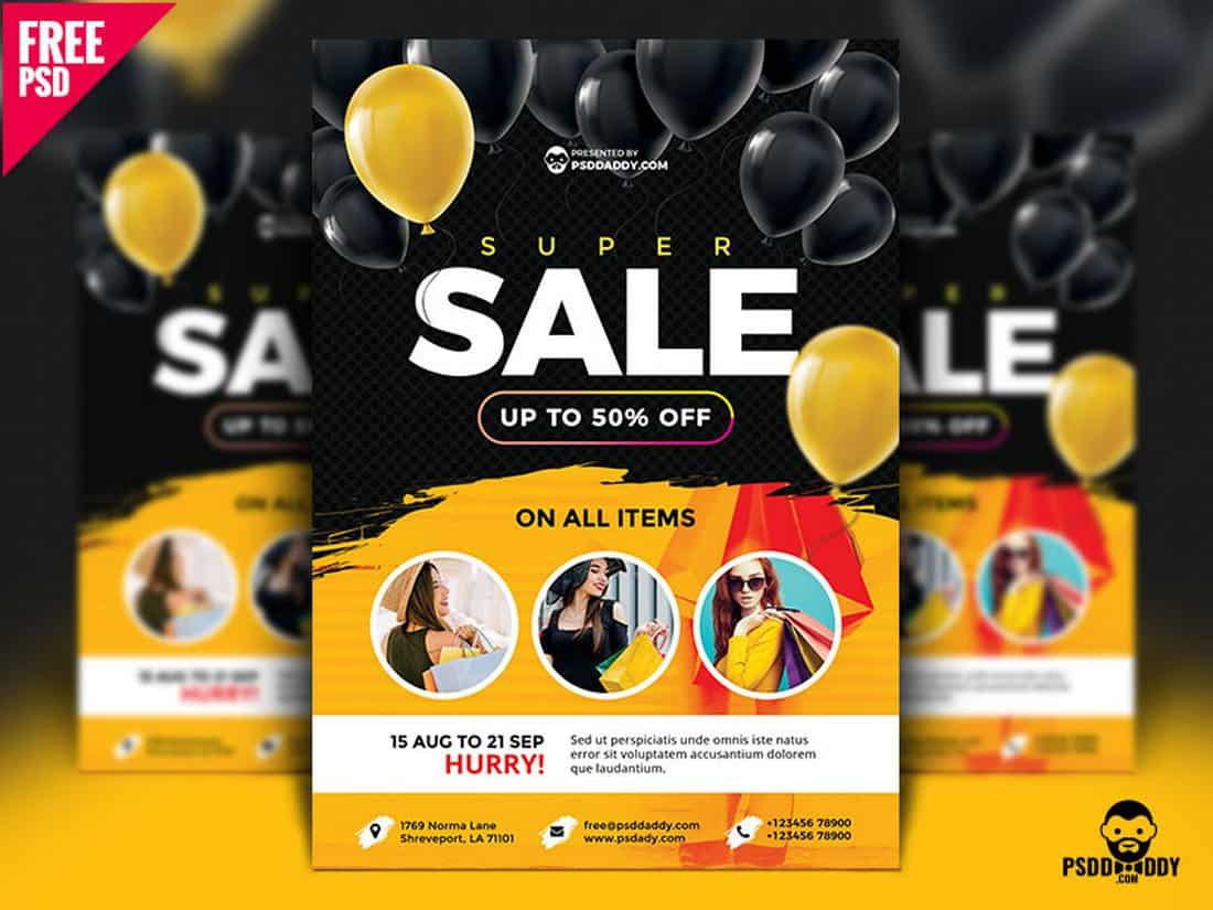 Super Sale Free Flyer Template