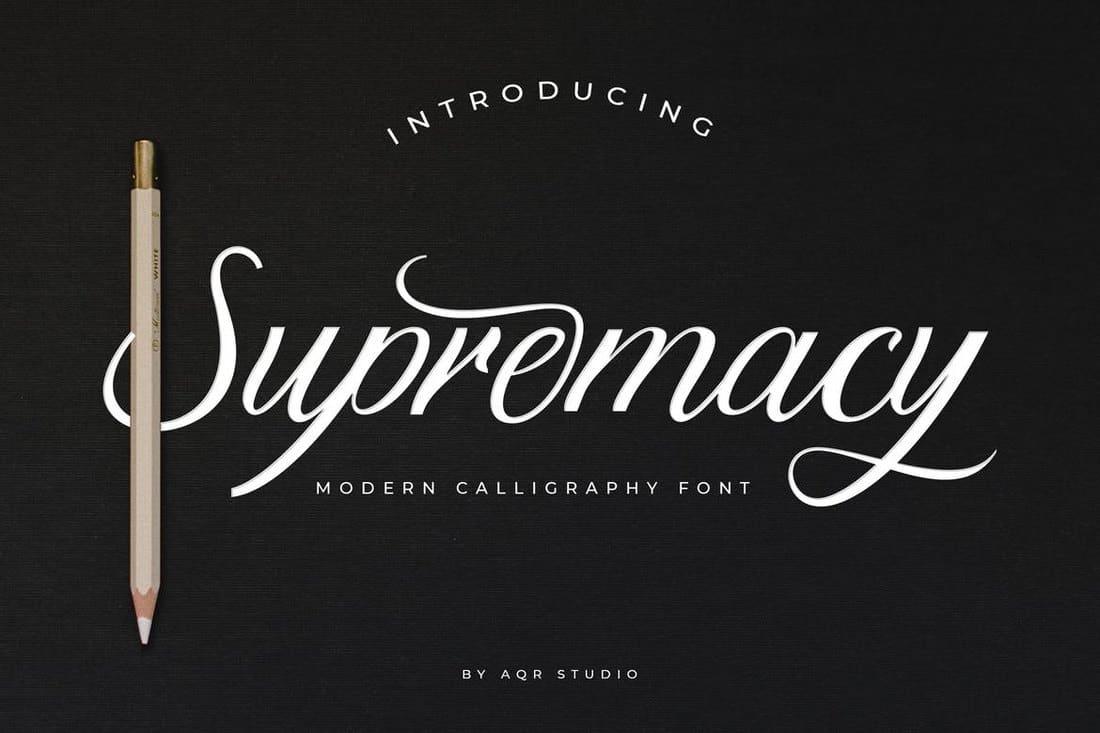 Supremacy - Modern Script Font