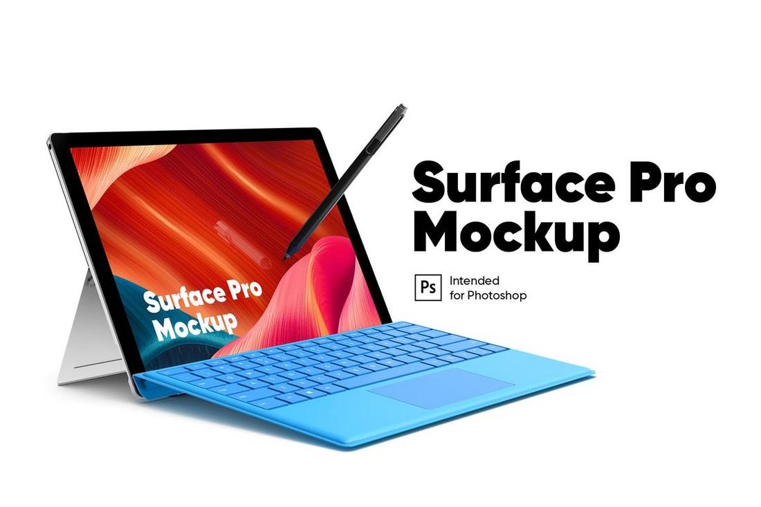Surface Pro Tablet Mockup