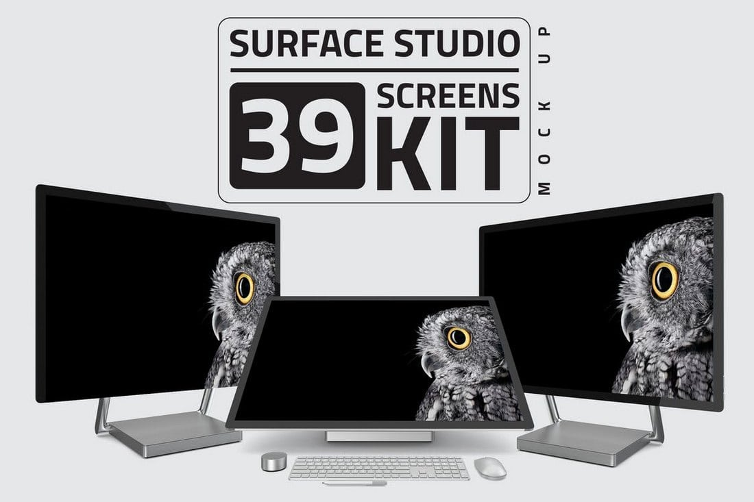 Surface Studio Computer Mockup Kit Bundle