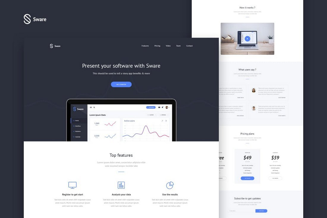 Sware - SaaS Software & App Landing Template