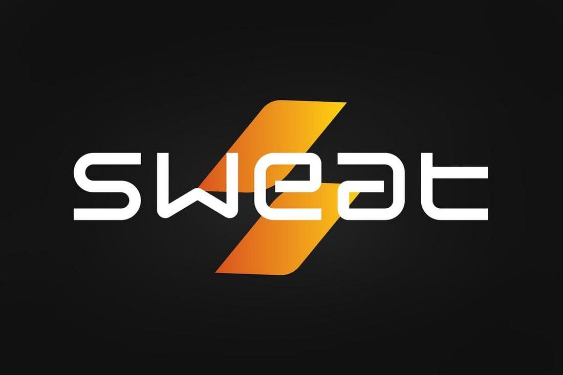 Sweat - YouTube Title Font