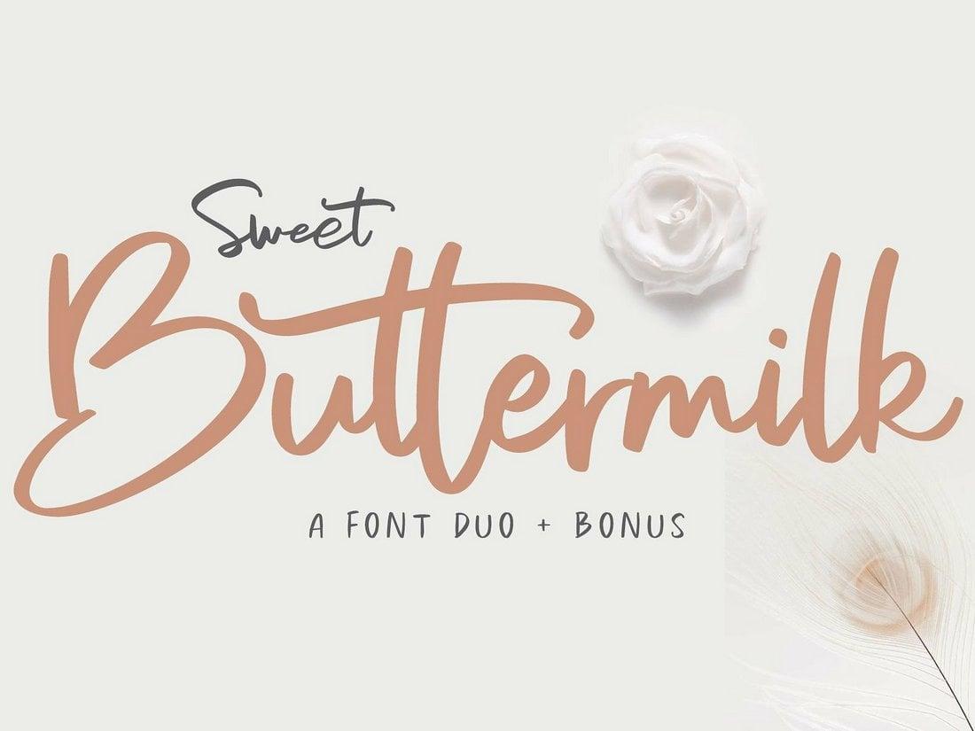 Sweet Buttermilk - Free Script Font