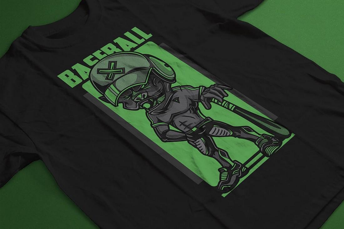 T-Shirt Design for Baseball Fans