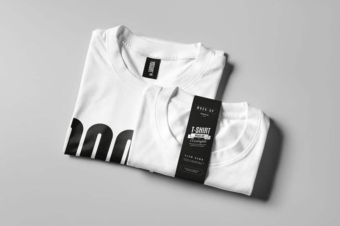 T-Shirt Mockup Folded Template