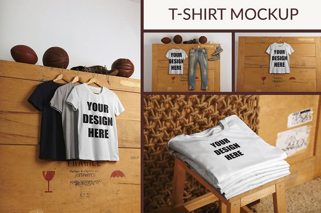 T-shirt-Mockup 40+ Stunning Vintage Mockup Packs & Graphics design tips