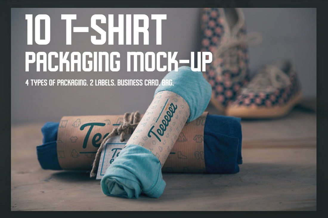 T-shirt-Packaging-Mock-ups 40+ Stunning Vintage Mockup Packs & Graphics design tips