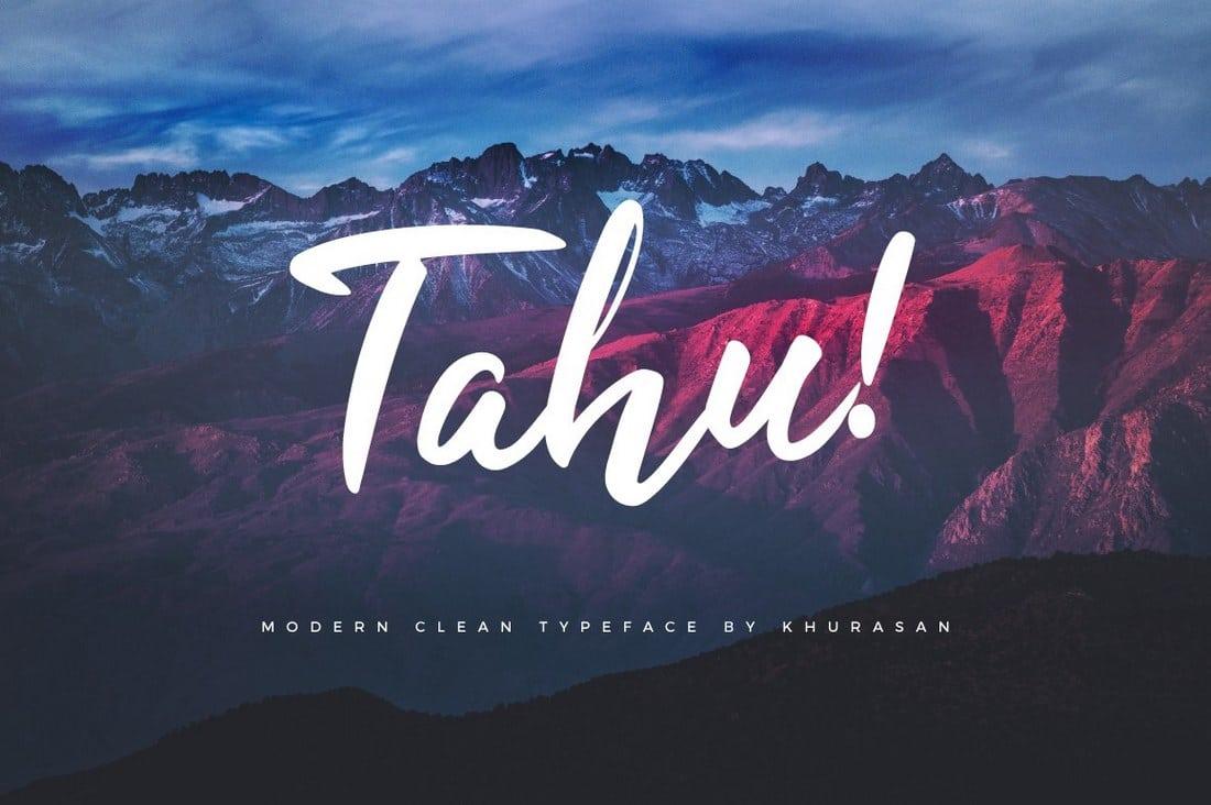 TAHU-Free-Script-Font 30+ Bold & Free Script Fonts design tips  Typography|fonts|script