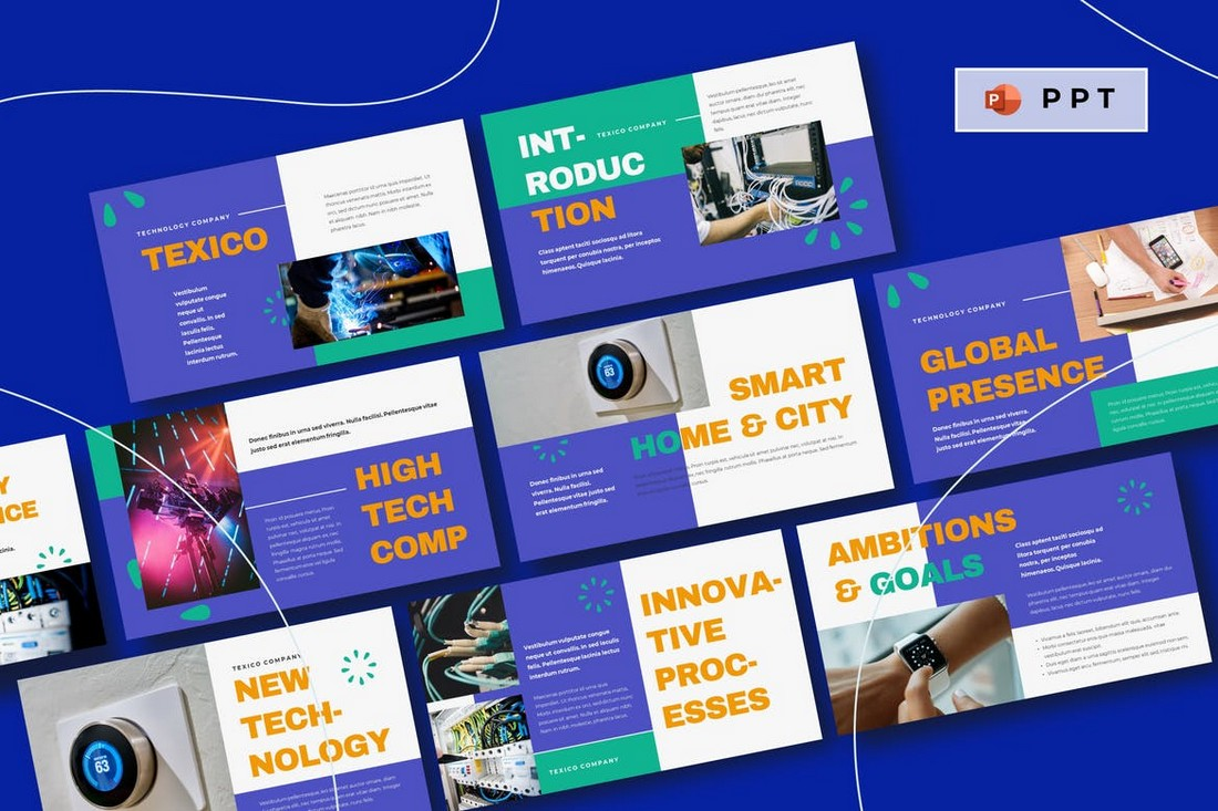 TEXICO - Techn Startup Powerpoint Template