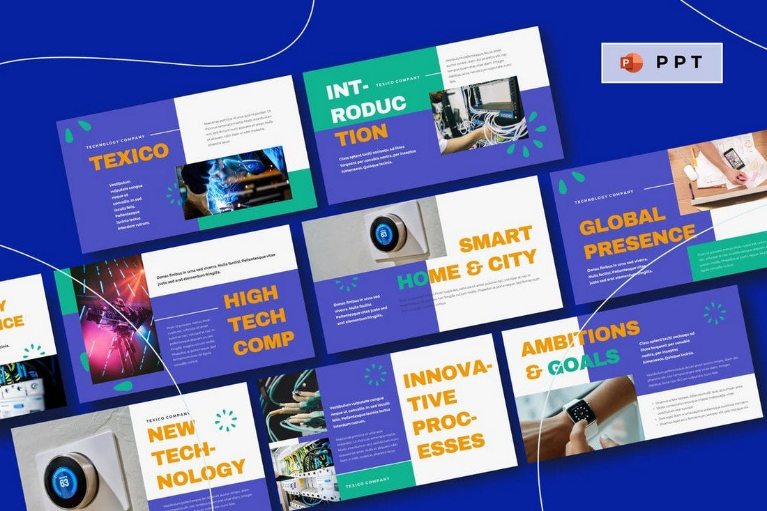TEXICO - Technology Professional Powerpoint Template