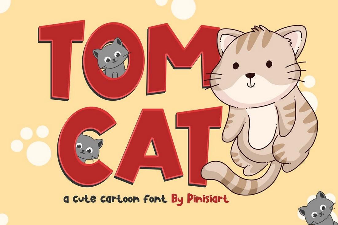 TOMCAT - Cartoon Font