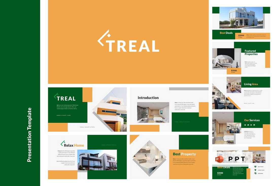 TREAL - Real Estate Powerpoint Template