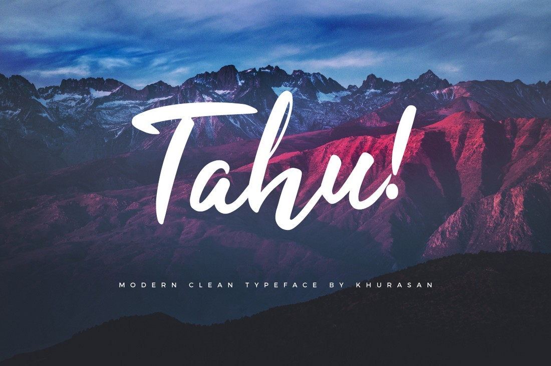 Tahu-Free-Brush-Script-Font 25+ Free Brush, Script & Hand Lettering Fonts design tips