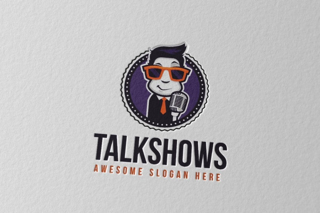 Talkshows Logo Template