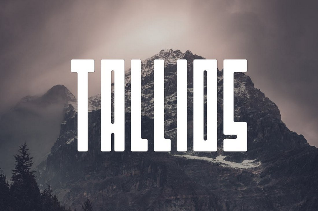 Tallios-Narrow-Font 40+ Best Condensed & Narrow Fonts of 2019 design tips