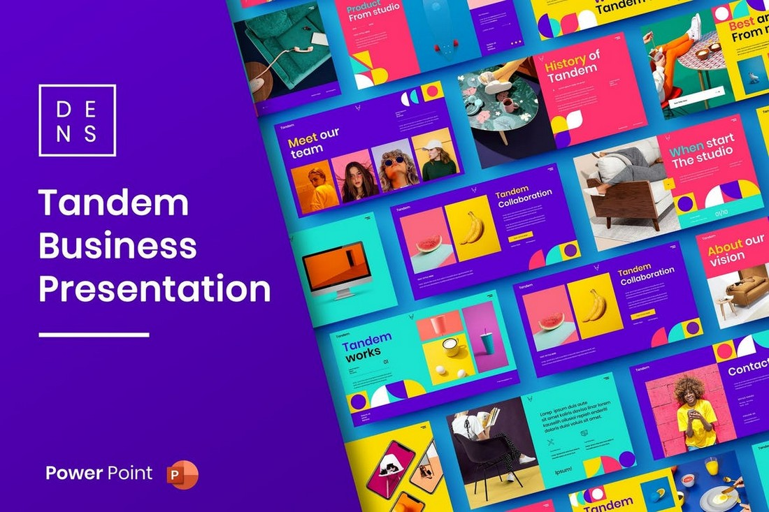 Tandem - Colorful Business PowerPoint Template
