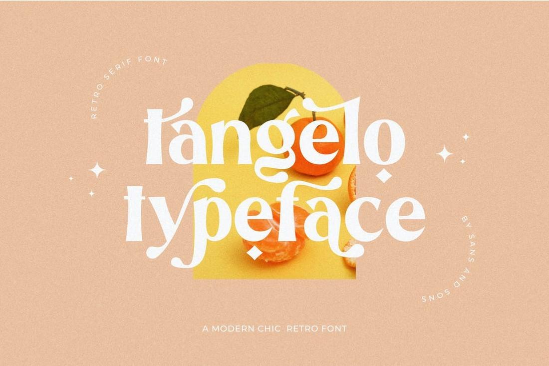 Tangelo - Elegant Modern Typeface