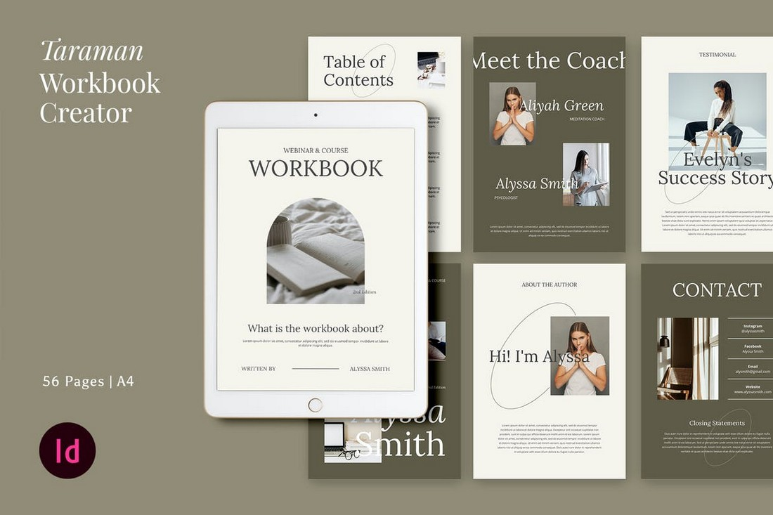 Taraman - Workbook Creator InDesign Template