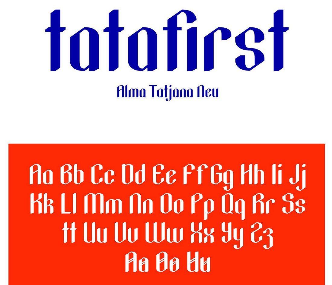 Tatafirst-Free-Blackletter-Font 35+ Best Blackletter Fonts design tips