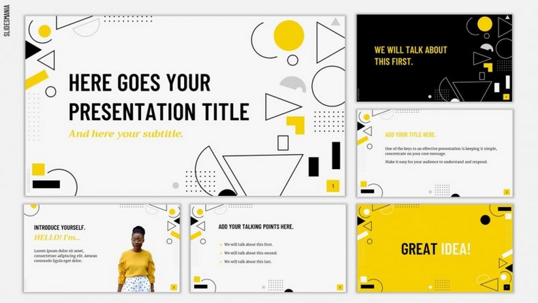 Taxi - Free Simple Google Slides Template