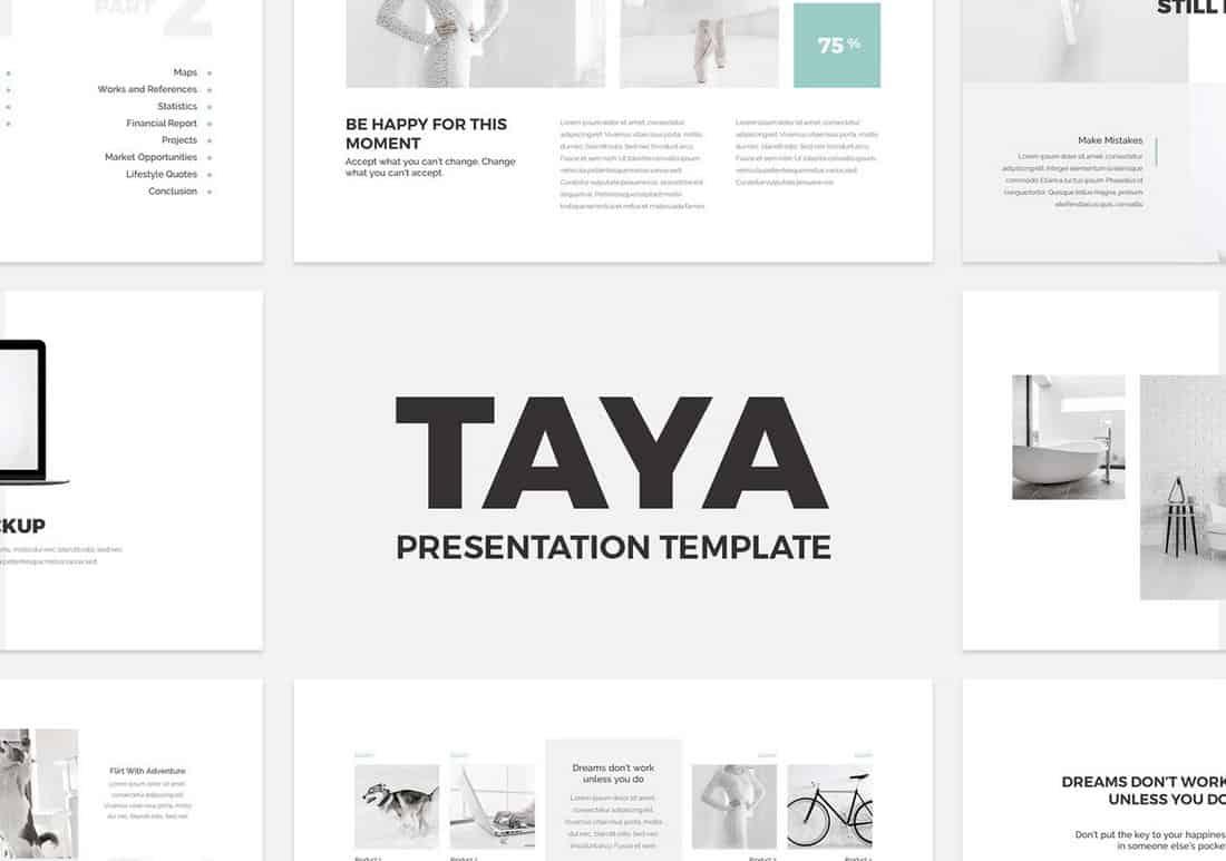 Taya - Free Keynote Presentation Template