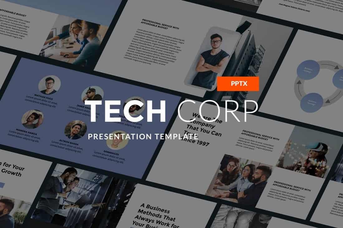 Tech Corp - Startup PowerPoint Template