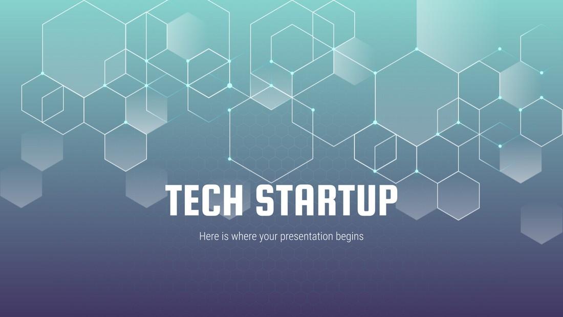 Tech Startup Presentation - Free PowerPoint Template